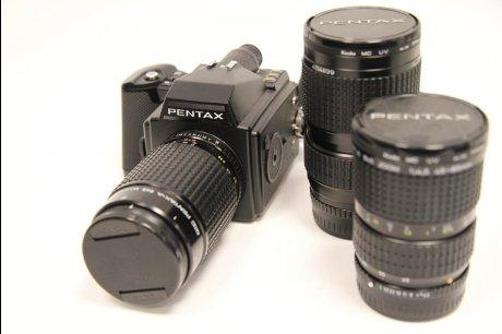PENTAX 645  レンズ3本、カメラバッグつき