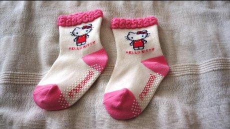 新品Hello Kittyベビーソックス(9~14cm)