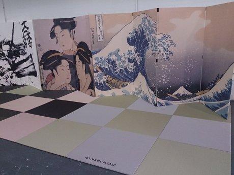 ロンドン<OUTLET>ミニ組立和室。畳や浮世絵屏風もどうぞ!