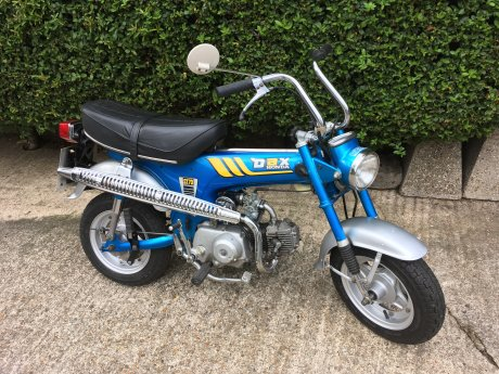 Classic Honda ST 70 Dax Monkey bike.