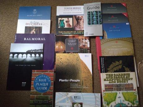 英国ガイドブック 日本語版、英語版各種 無料進呈