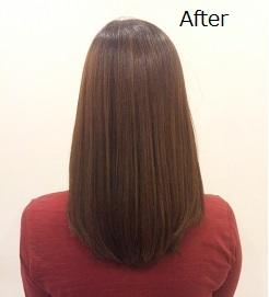 縮れ毛で広がりやすい髪をボリュームダウンして扱いやすい髪に!