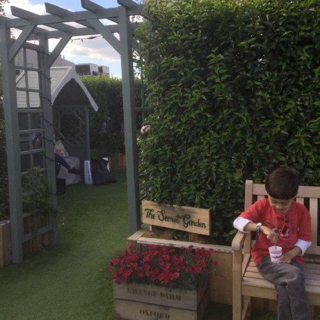 ~9/4 ジョン・ルイスの屋上で夏の日差しを楽しむルーフ・ガーデン